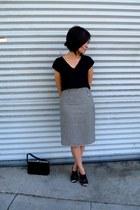 Evan Picone skirt - velvet hand bag versace bag - Forever 21 heels