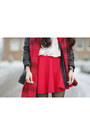 Black-ribbon-jacket-ivory-oasap-shirt-ruby-red-h-m-scarf