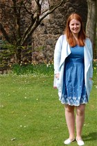 blue yumi dress - white F&F shoes - sky blue River Island cardigan