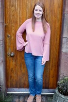 pink Primark blouse - light brown Fat Face boots - blue next jeans