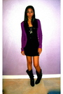Black-target-shirt-black-american-apparel-skirt-purple-cardigan-black-doll