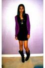 Black-target-shirt-black-american-apparel-skirt-purple-cardigan-black-doll