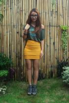 mustard bandage Kirin-Kirin skirt - army green army-printed SM Kidswear socks