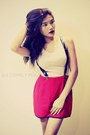 Old-rose-top-red-skirt