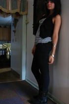 Converse for Target top - lace back - Urban Outfitters jeans - motorcycle shoes