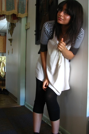 simply very top - Marshalls sweater - Urban Outfitters tights - Aldo shoes