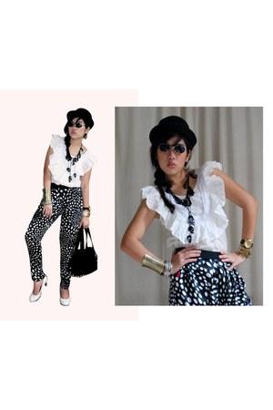 ruffled cotton brandsforlessmultiplycom blouse - brandsforlessmutliplycom pants