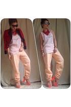 baby pink Jcampbell print top - random from Bangkok pants
