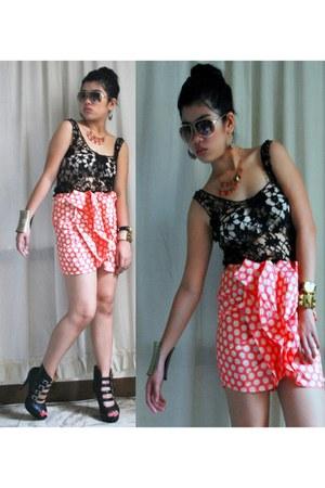ruffled front tnc skirt