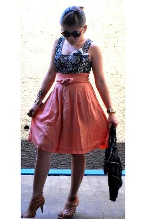 sheer loose shorts - top - heels