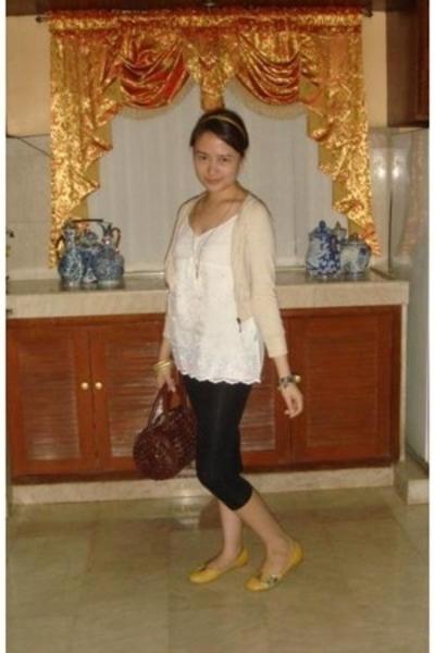 top - Mango jacket - leggings - Mendrez shoes - purse - Kamiseta necklace