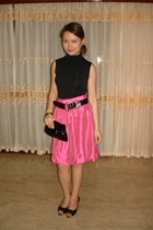 Mango top - Space skirt - belt - shoes - bracelet - purse
