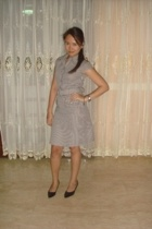 SM Dept Store brown and white striped dress - Charles & Keith shoes - accessorie