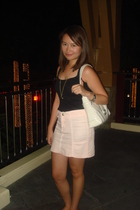 Topshop top - no brand light skirt - Liz Claiborne white bag - SO Fab white slip