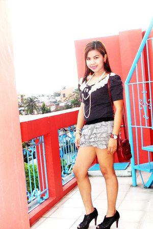 Korean apparel blouse - Topshop shorts - Aldo boots - my own made bracelet - my