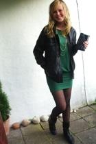 GINA TRICOT dress - GINA TRICOT accessories - dressmann jacket - DinSko boots -