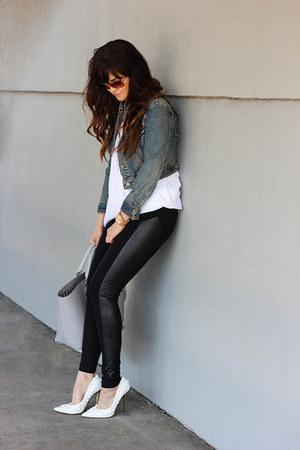 jacket - leggings - bag - sunglasses - pumps - top