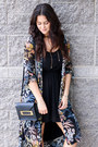 Floral-esprit-dress-black-sophie-hulme-bag-brown-sole-society-sandals