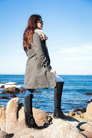 Somedays Lovin coat - franco sarto boots - dittos jeans - MinkPink t-shirt