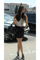 H&M top - H&M skirt - Nine West shoes - Francesco Biasia purse
