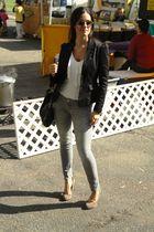 H&M blazer - American Eagle jeans - Dolce Vita shoes