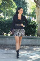 H&M jacket - Forever 21 skirt - Marc Fisher shoes