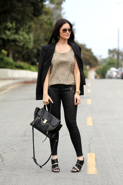 Christian Louboutin shoes - Fidelity Denim jeans - Elizabeth and James blazer