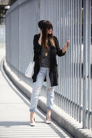 coat - bag - sunglasses - pumps