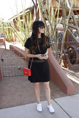 bag - dress - sunglasses - sneakers