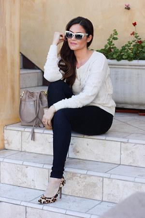 James Jeans jeans - Macys sweater - bag - pumps