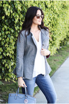 Dear John jeans - Lookbook Store blazer - Henri Bendel sunglasses