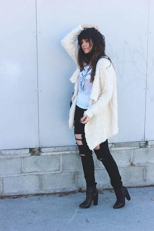 beige knit Sheinside coat