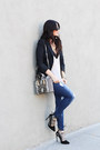 Ymi-jeans-elizabeth-and-james-blazer-henri-bendel-bag-tony-bianco-heels
