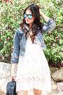 White-lovestich-dress-denim-levis-jacket-black-henri-bendel-bag