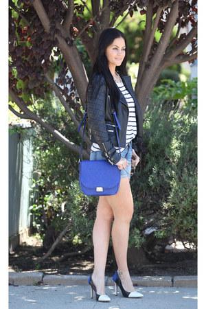 Zara jacket - Fidelity Denim shorts - H&M top