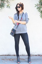 black Bed Stu boots - dark grey Mott & Bow jeans - black Hammitt bag