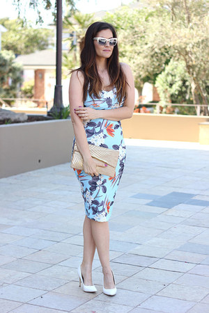 dress - bag - sunglasses - pumps