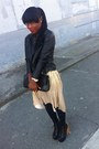 H-m-dress-leather-black-forever21-jacket-black-uniqlo-stockings