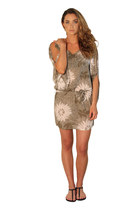 AUSTRALIAN DESIGNER Stone Grey Resort Boho Chic Dress/Top/Kaftan