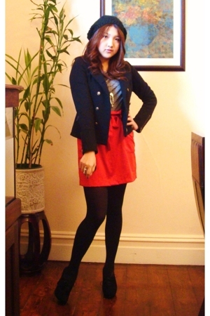 5 cm t-shirt - MinkPink skirt - Princess Highway blazer - Nine West boots - Spor