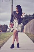 scarf pattern Zara skirt - black studded Shop Wasteland boots