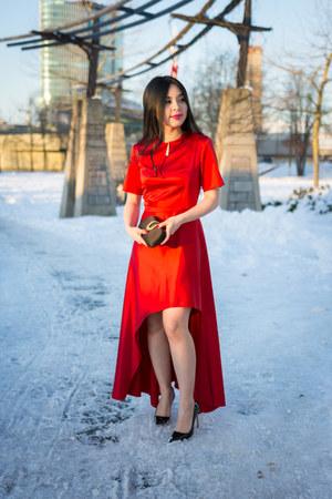 ruby red Zara dress