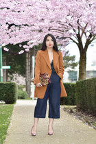 carrot orange oversized long Zara blazer