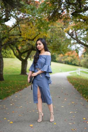 blue shein dress
