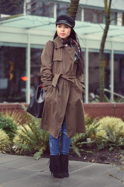 army green Zara coat