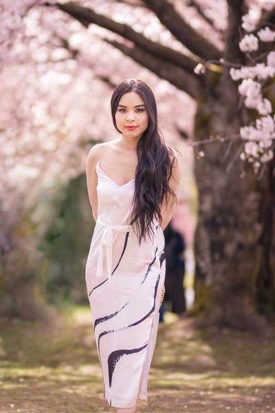 off white slip dress Ashleigh Kwong dress