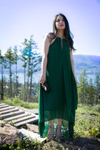 dark green H&M dress