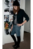 Target hat - The Limited blazer - Express blouse - Nine West