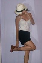 hat - Gap shirt - H&M skirt - Aldo shoes