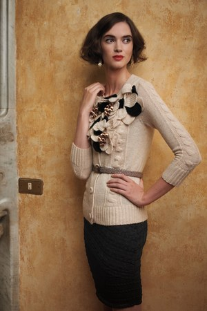 Anthropologie cardigan - Anthropologie skirt